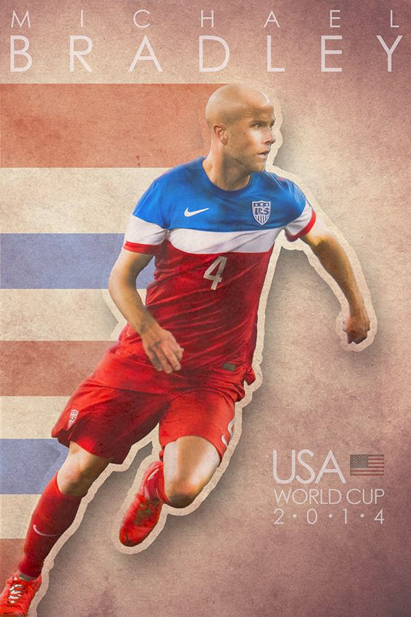 World Cup Poster - Michael Bradley by Jared Wagner, via Behance #soccer #poster