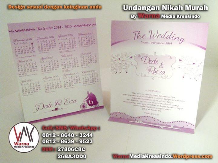 Undangan nikah ungu tema girly - whatsapp: 081286403244 website: warnamediakreasindo.wordpress.com #undangan #pernikahan #wedding #invitation #ungu #girly #floral #simple