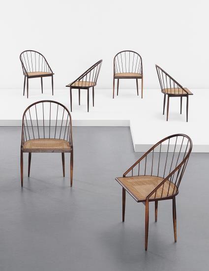 Joaquim Tenreiro, Set of six chairs, c. 1960   PHILLIPS