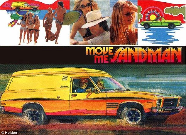 'Built for new horizons:' The original Sandman panelvan as it first appeared in Holden adverts