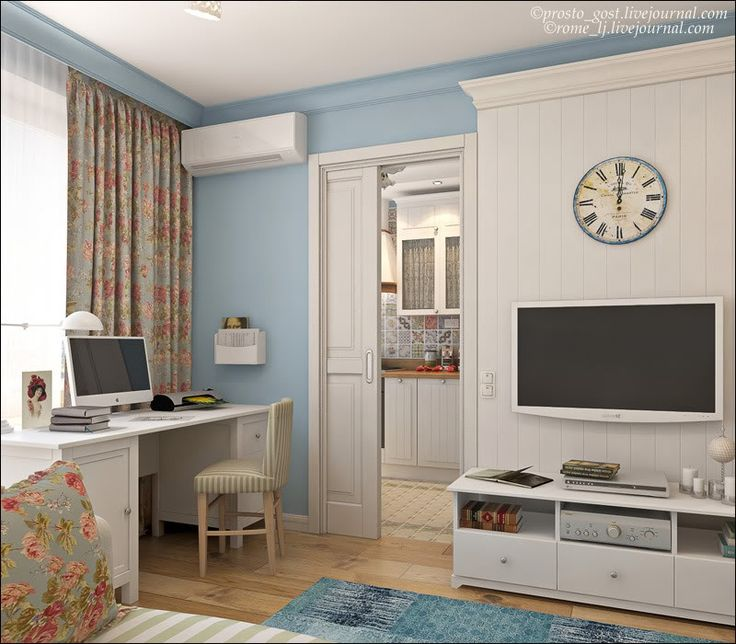 28 квадратных метра. Хрущевка. Снесена часть стены между комнатой и кухней, что, как ни странно, позволило создать дополнительные места для хранения. В целом интерьер получился уютным и светлым.