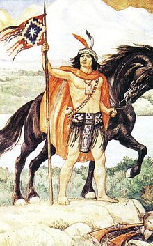 Lautaro the great military chief of the Mapuche.