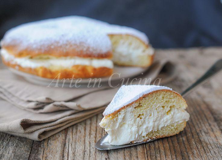 Torta+brioche+fiocco+di+neve+ricetta+facile