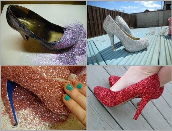 Several things you can do with Goodwill shoes... rescue an ugly pair of shoes and make them your own!