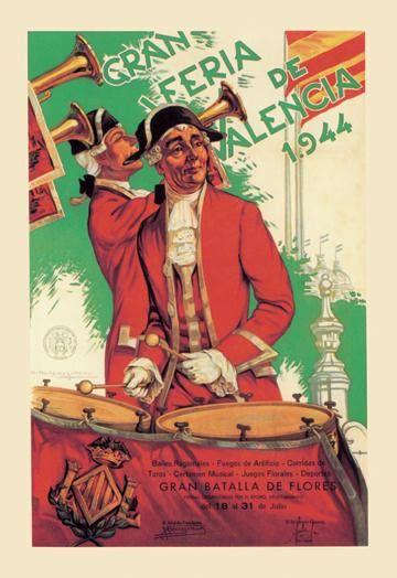 Gran Feria de Valencia 12x18 Giclee on canvas