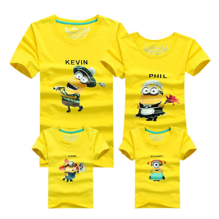 1Psc Minion shirt Top quality cartoon t shirts camisetas despicable me minions clothes minion costume boys clothes Family fitted