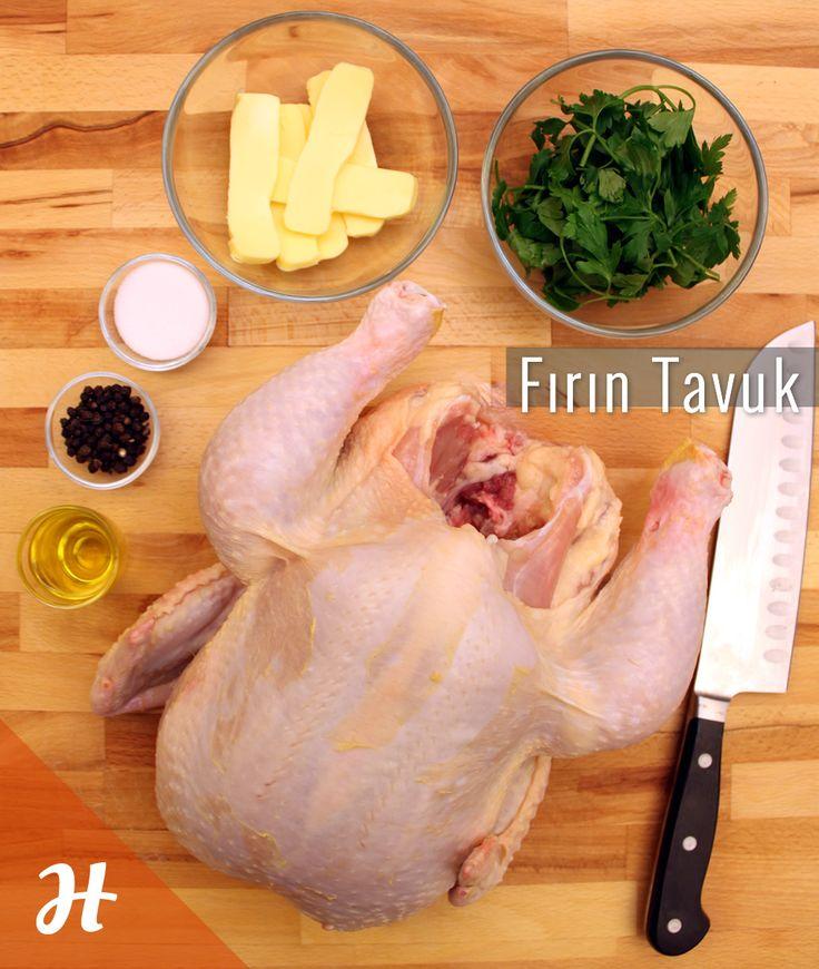 Çıtır çıtır bir fırın tavuk için ihtiyacınız olanlar!  Detaylar tavuk bölümünde: http://www.hobiyo.com/kurslar/temel-mutfak-teknikleri-k1