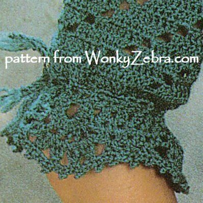Sleeve detail from pattern PDF WZ716 crochet lace cardigan top