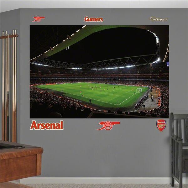 Arsenal emirates stadium mural fathead boys bedroom for Arsenal mural emirates