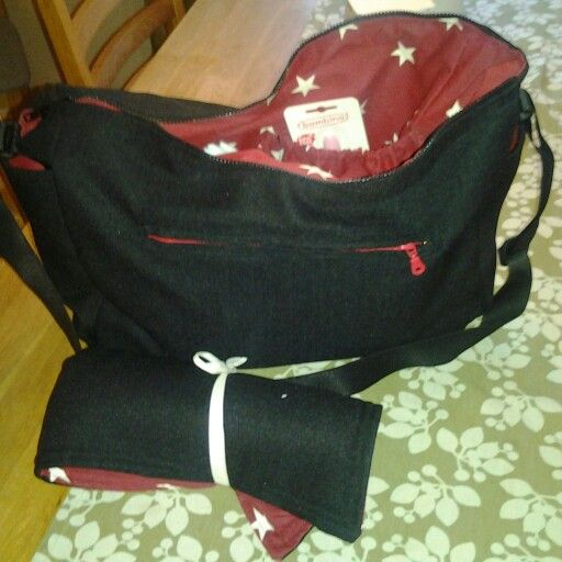 Another baby diaper bag with a changing pad. DIY sewing