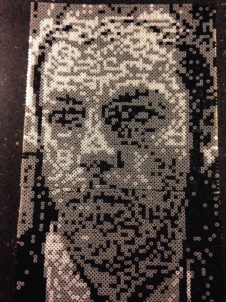 Lord Elrond from the hobbit made in mini-hama pearls