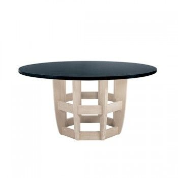 Lakeshore Round Dining Table With Datcha Stone Top Sutherland