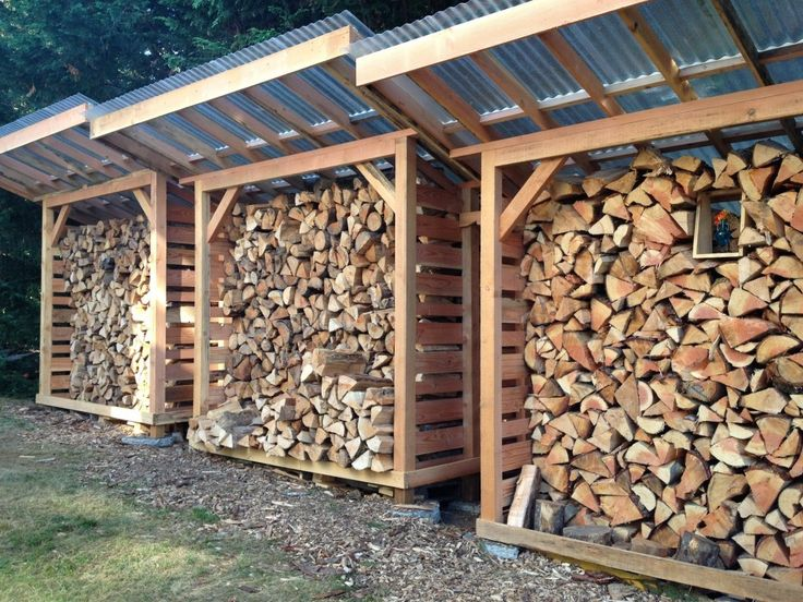 Large Brown Wood Firewood Storage With Clean Roof On Green Grass And Gravel Outdoor Traditional Simple Firewood Storage Design Ideas Home Accessories, Furniture, Outdoor outdoor firewood storage rack. firewood rack toronto. exterior firewood storage.