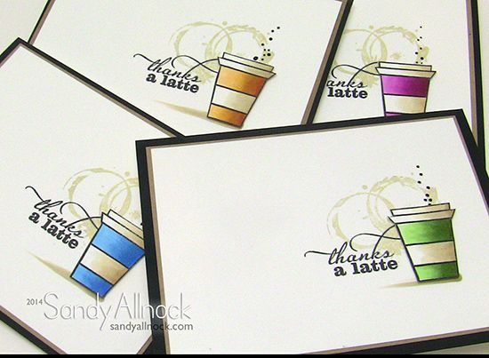 From Sandy Allnock : Gorgeous Verve Stamps (Better with You) and delightful Copic colouring. Stunning card.