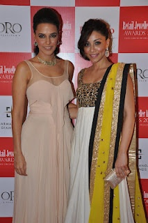 Neha Dhupia and Amrita Puri at The Jury Meet for The 8th Annual Gemfields Rio Tinto Jeweller India Awards. | Bollywood Cleavage
