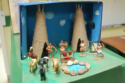 she who delights: shoebox dioramas