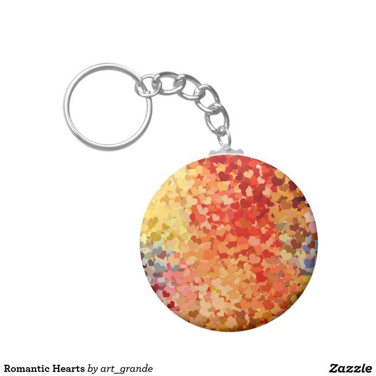 Romantic Hearts Keychain