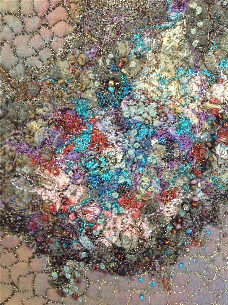Sample using dissolvable fabric