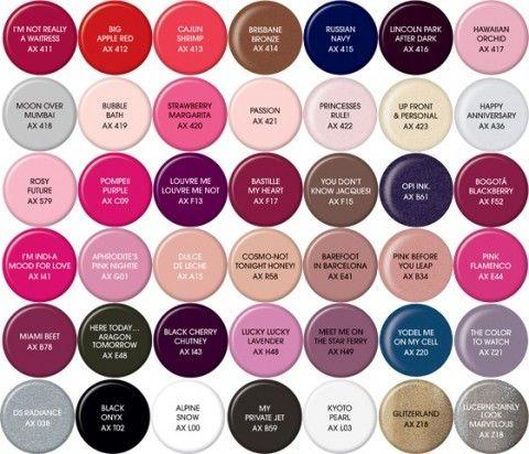 axxium soak off gel colors opi - Opi Gel Color Chart