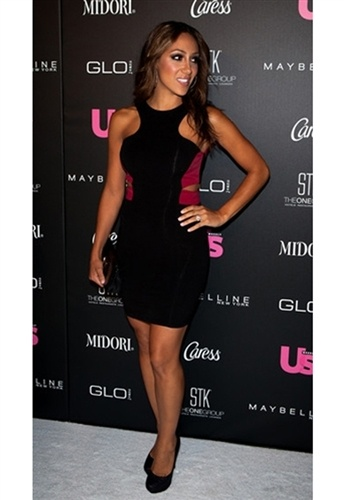 Donna Mizani Racer Front Cut Out Mini Dress as seen on Melissa Gorga