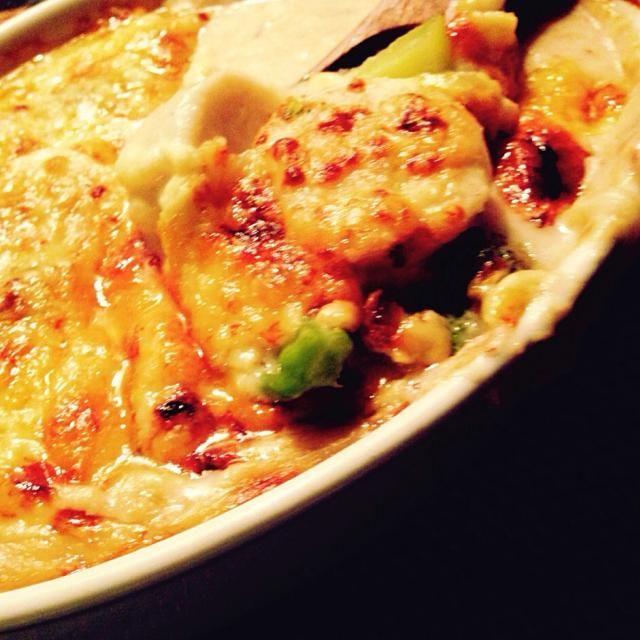 ワタリガニ缶詰、Fromインドネシア。 - 180件のもぐもぐ - 里芋とブロッコリーのアンチョビクリーム蟹グラタン by 太田 Tommy