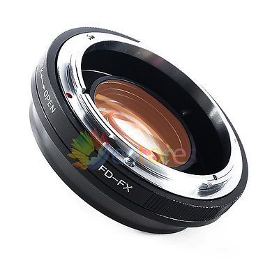 Focal Reducer Speed Booster Adapter For Canon FD Lens to Fuji FX X-Pro1 X-E1【UK】
