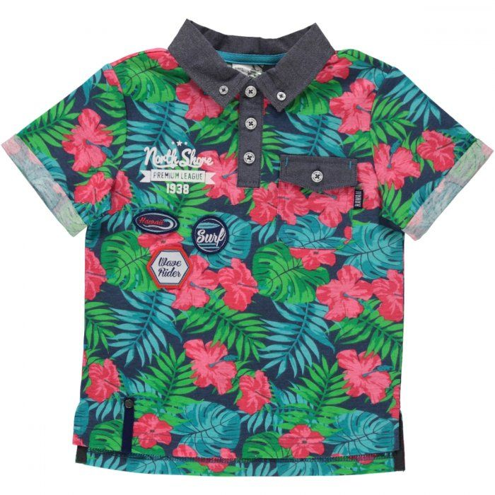 All over flower north shore printed golfer Image 1