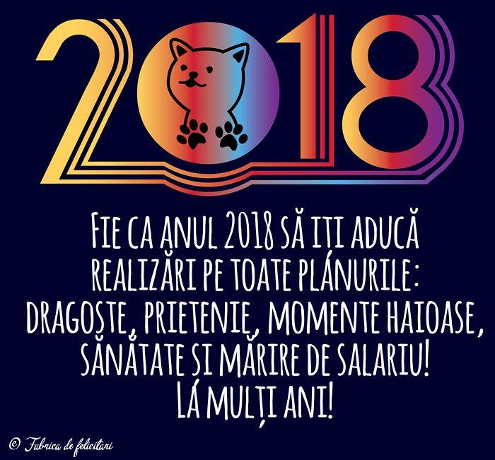Fie ca anul 2018 să iți aducă realizări pe toate planurile: dragoste, prietenie, momente haioase, sănătate și mărire de salariu!