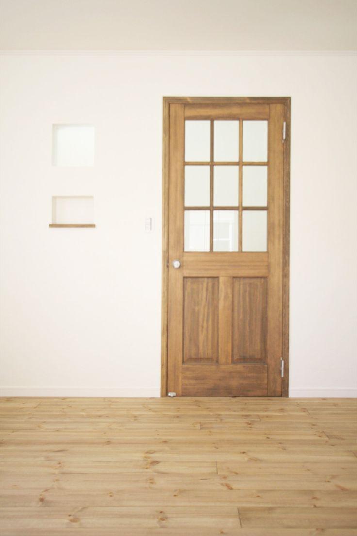 室内ドア/無垢ドア/ドア/輸入ドア/扉/インテリア/ナチュラルインテリア/注文住宅/施工例/ジャストの家/door/interior/house/homedecor/housedesign