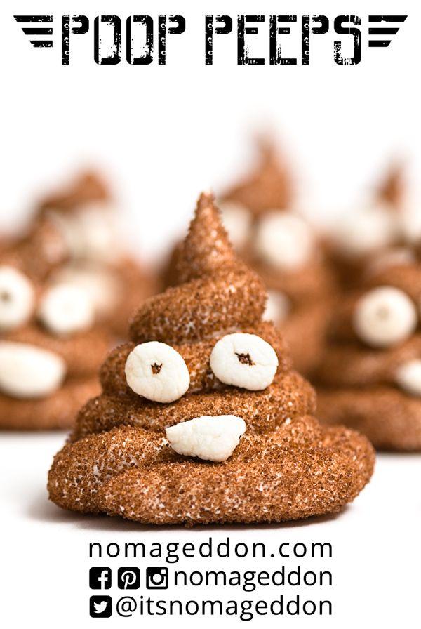 Poop Peeps!!! DIY Marshmallow Peeps that look like the Pile of Poo emoji! A totally unique Easter treat.
