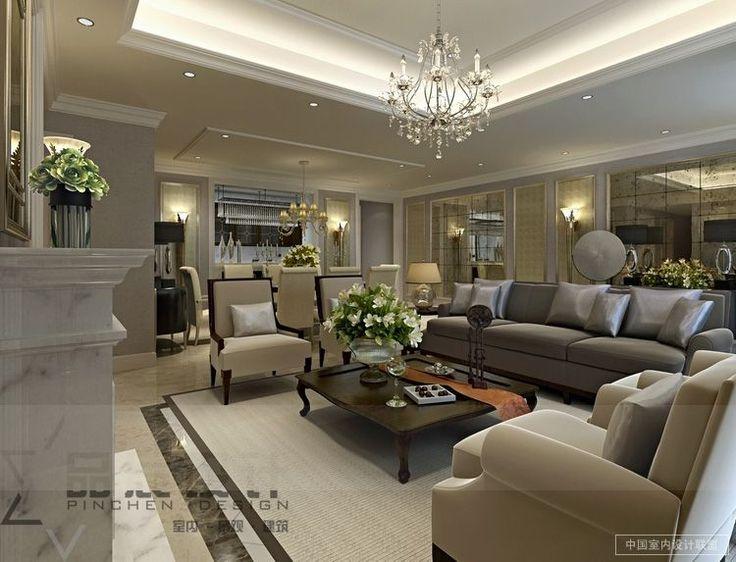 opulent classy living room neutral tones - Classy Living Room Designs