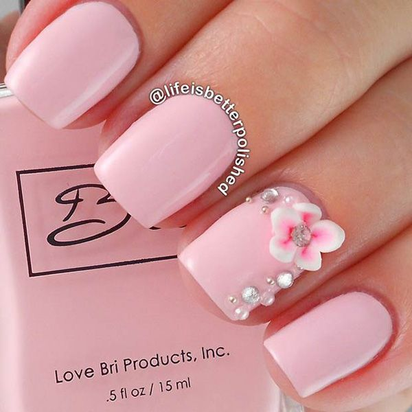 50 Pink Nail Art Designs Cuded In 2020 Cute Pink Nails Pink Nail Art Designs Pink Nails