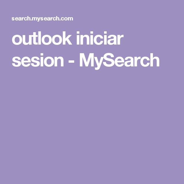 outlook iniciar sesion - MySearch
