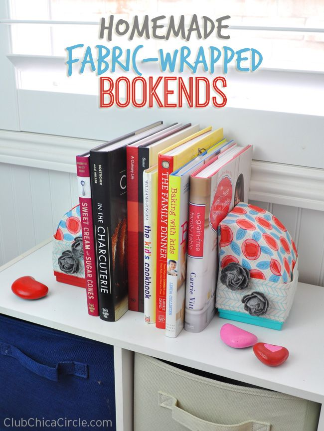 Easy Homemade Fabric-Wrapped Bookends