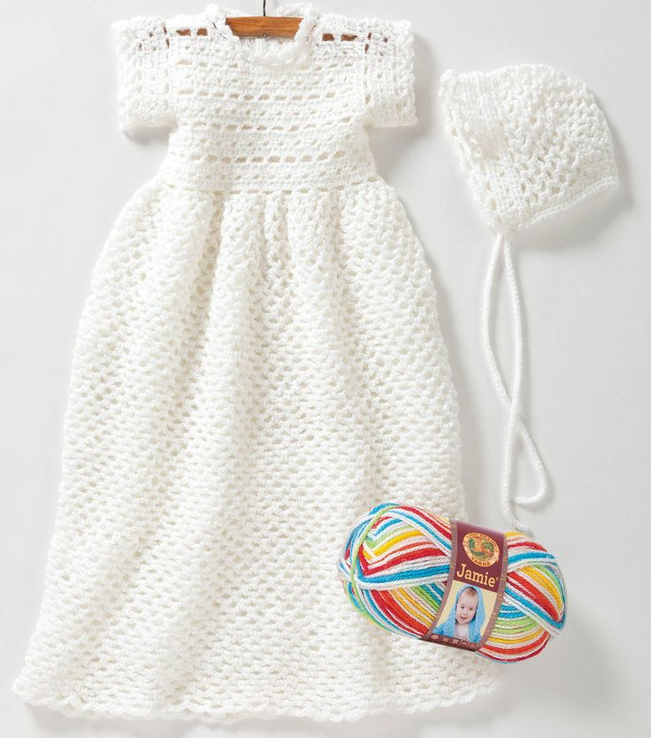 Free Easy To Crochet Christening Gown Pattern Craftdrawer Crafts