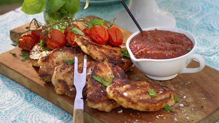 Recept het chilikotlett med bbq-sås
