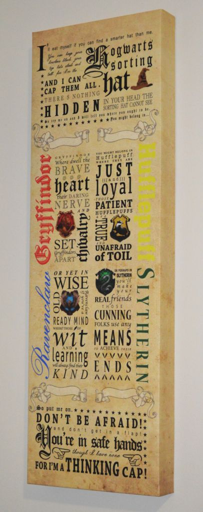 Harry Potter Nursery Sorting Hat Song Art