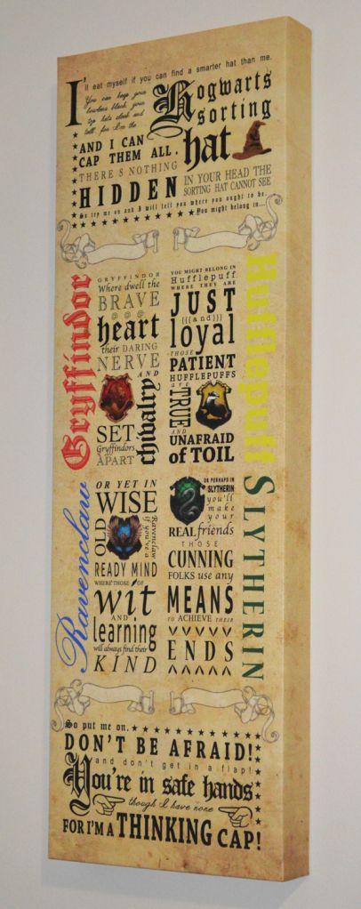 Harry Potter Nursery Sorting Hat Song Art