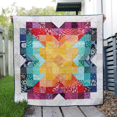 Scrappy Posie Baby Quilt In 2020 Baby Quilts Colorful Quilts Quilt Patterns