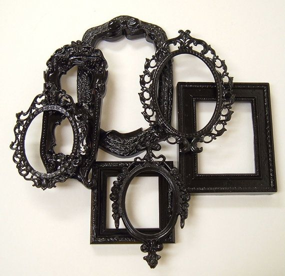 Picture Frames Black Shabby Chic Frames by MountainCoveAntiques, $54.00