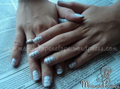 Tutorial: Nail Art de Jornal