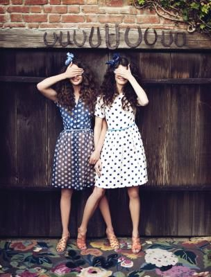 polka dot dresses & clarks sandals