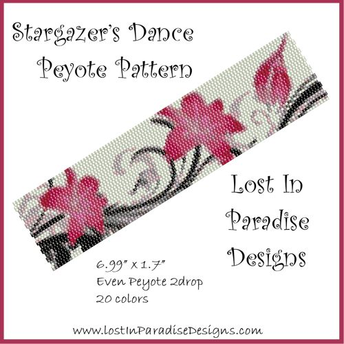 Peyote Bracelet Pattern Stargazer's Dance (Buy 2 get 1 Free)   LostInParadise - Patterns on ArtFire