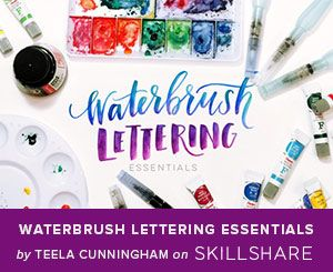 Are you as obsessed with hand lettering and calligraphy like I am? If you would like to learn how to do it too, see these tutorials below. I found 8 free tutorials - 6 written and 2 videos. These designers share their process step-by-step. Note that these free tutorials are as in-depth as the premium classes.
