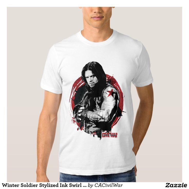 Winter Soldier Stylized Ink Swirl Graphic Tee Shirt. Regalos, Gifts. #camiseta #tshirt