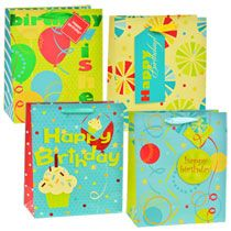 Large All-Age Whimsical Birthday Gift Bags