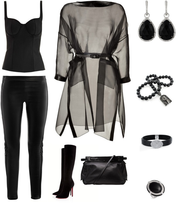 """""""Nearly Unrelieved Black"""" by cupidsbeau on Polyvore"""