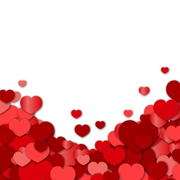 Fundo vermelho dos corações Vetor grátis