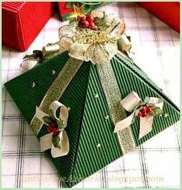 MENTŐÖTLET - kreáció, újrahasznosítás: Kúp alakú karácsonyi csomagolás