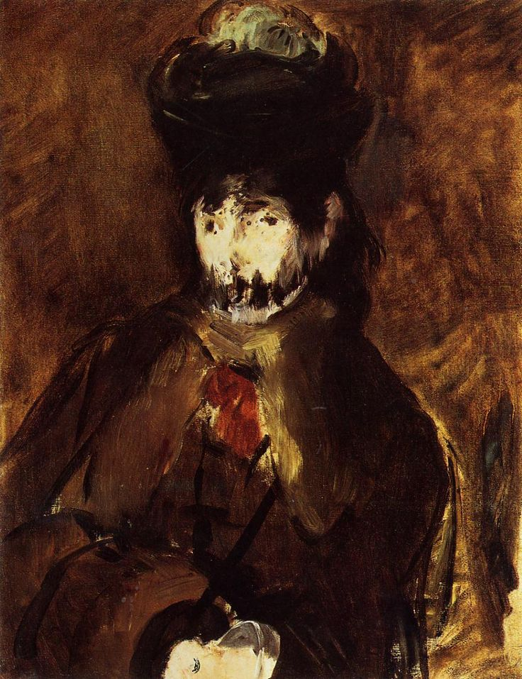 A veiled young woman, Artist: Edouard Manet, Completion Date: 1872, Place of Creation: Paris, France, Technique: oil, Material: canvas